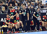 10.01.2019, Mercedes Benz Arena, Berlin, GER, Handball WM 2019, Deutschland vs. Korea, im Bild <br /> Cheftrainer (Head Coach) Christian Prokop (GER), Uwe Gensheimer (GER #3)<br /> <br />      <br /> Foto © nordphoto / Engler