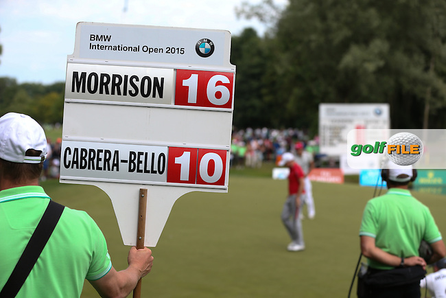 James Morrison (ENG) has the edge over the field heading into the final holes during Round Three of the 2015 BMW International Open at Golfclub Munchen Eichenried, Eichenried, Munich, Germany. 27/06/2015. Picture David Lloyd   www.golffile.ie