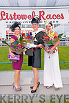 Listowel Races : The finalists at ladies day at Listowel Races on Sunday Mary Woulfe, Nollaigh McCrthy McEnery & Claire Hilliard