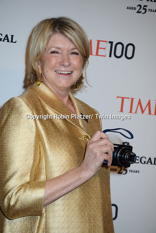 Martha Stewart attends the TIME 100 Gala celebrating the 100 Most Influential People in the World on April 29, 2014 at Frederick P Rose Hall in New York City, NY, USA.