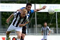 ASSEN - Voetbal - ACV - Hercules, KNVB beker, seizoen 2017-2018, 19-08-2017, Romano Diababoe in duel met Mart Stokkers