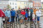 Unveiling: Retired Council worker Christy Hartnett unveiling the Entende Floral plaque in the Square, Listowel on Saturday last,