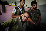 ALEPPO: August 3rd 2012:..Major Muhammed Hamadi commander of the Free Syrian Army in Aleppo. ..Ayman Oghanna for The Sunday Telegraph.