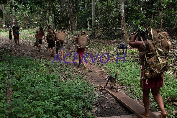 aldeia Wathoriki, regi&atilde;o do Rio Demini, na Terra Ind&iacute;gena Yanomami <br /> <br /> Entre os dias 15 e 20 de outubro mais de 700 representantes yanomami reuniram-se na aldeia Watoriki (Demini), no Amazonas, na VII Assembleia Geral da Hutukara Associa&ccedil;&atilde;o Yanomami (HAY) que teve como tema os 20 anos da homologa&ccedil;&atilde;o da Terra Ind&iacute;gena Yanomami.<br /> <br /> BARCELOS-AM  10-2012 - Novo Demini, as comunidades do Ant&ocirc;nio e do Abra&atilde;o. A aldeia Watoriki est&aacute; localizada no meio da floresta amaz&ocirc;nicana NA regi&atilde;o do munic&iacute;pio de Barcelos (a 399 quil&ocirc;metros de Manaus), divisa dos Estados do Amazonas e Roraima,e tamb&eacute;m &eacute; rodeada de montanhas. Seu nome &eacute; uma refer&ecirc;ncia &agrave; montanha cujo nome em portugu&ecirc;s significa serra do vento. A popula&ccedil;&atilde;o &eacute; estimada em 150 pessoas, que vivem conjuntamente dentro de uma maloca. FOTO: ODAIR LEAL