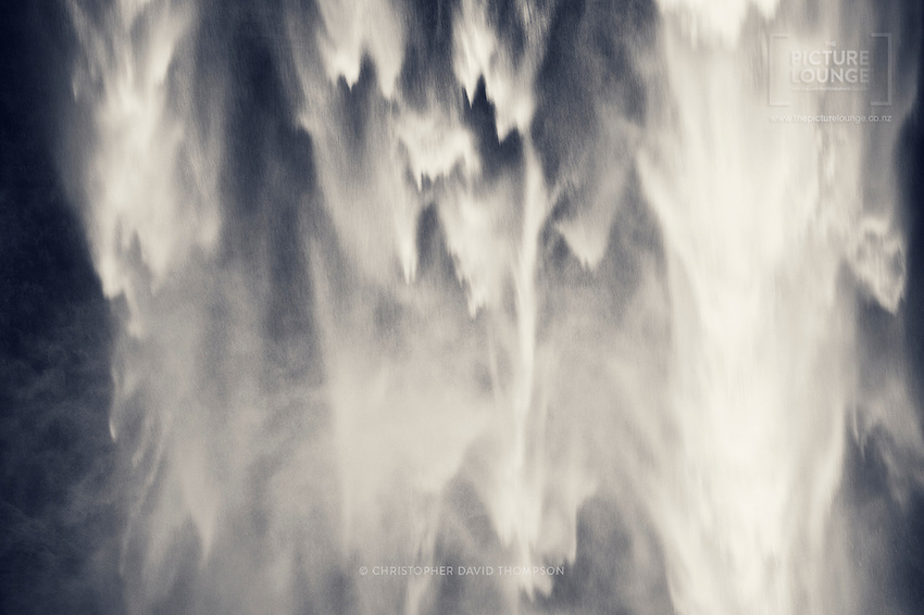 The first image released from New Zealand Outdoor Photographer Christopher Thompson's personal project studying the movement of water. A gorgeous sense of movement underpins the work though it also has a stunning abstract quality. Taken at Seljalandsfoss in Southern Iceland.
