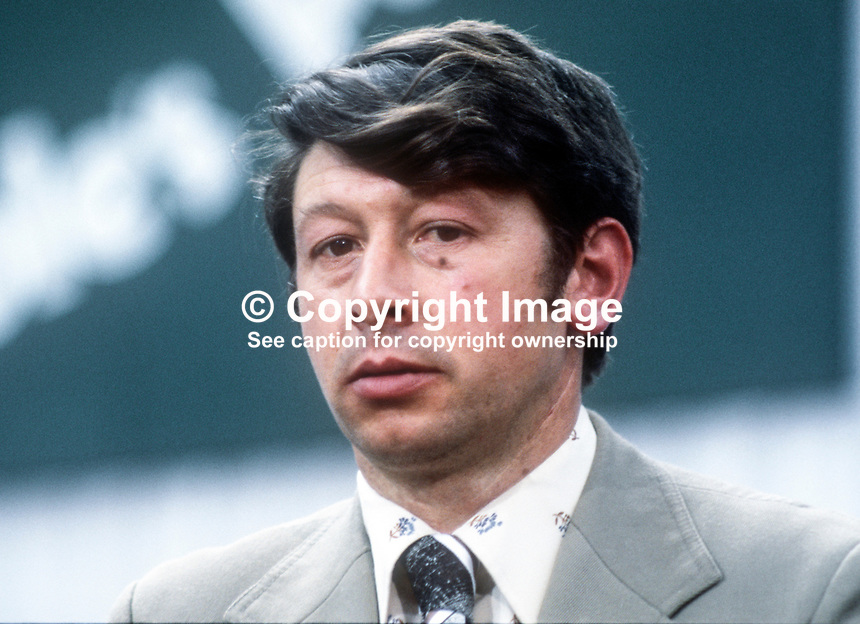Michael D&rsquo;Arcy, TD, Fine Gael, Rep of Ireland, May, 1978, 197805144<br /><br />Copyright Image from Victor Patterson, 54 Dorchester Park, <br />Belfast, UK, BT9 6RJ<br /><br />t1: +44 28 9066 1296 (from Rep of Ireland 048 9066 1296)<br />t2: +44 28 9002 2446 (from Rep of Ireland 048 9002 2446)<br />m: +44 7802 353836<br /><br />victorpatterson@me.com<br />www.victorpatterson.com<br /><br />Please see my Terms and Conditions of Use at VICTORPATTERSON.COM. It is IMPORTANT that you familiarise yourself with them.<br /><br />Images used on the Internet must be visibly watermarked i.e. &copy;VICTORPATTERSON.COM within the body of the image and copyright metadata must not be deleted. Images used on the Internet have a size restriction of 4kbs and are chargeable at the then current NUJ rates.<br /><br />This image is only available for the use of the download recipient i.e. television station, newspaper, magazine, book publisher, etc, and must not be passed on to any third party. It is also downloaded on condition that each and every usage is notified within 7 days to victorpatterson@me.com<br /><br />The right of Victor Patterson to be identified as the author is asserted in accordance with The Copyright Designs And Patents Act (1988).