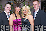 Jamie Collins, Katie Carmody, Martina Copse and Michael O'Sullivan pictured at Abbeyfeale Debs ball at the Abbeygate hotel,on Thursday.