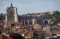 Europe/France/Auvergne/12/Aveyron/Villefranche-de-Rouergue: Collégiale Notre-Dame (gothique méridionale - XIV-XVème siècle)