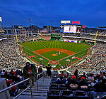 30 March 2008: Fans start to fill up the seats prior to the Opening Day game ceremonies as part of the Washington Nationals' inauguration of Nationals Park in Washington, DC. The Nationals christened their  new ballpark with a win over the visiting Atlanta Braves 3-2 in the first game at the state-of-the-art sports facility...Mandatory Photo Credit: Ed Wolfstein Photo