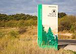 Sign for Sierra de Grazalema natural park, Cadiz province, Spain