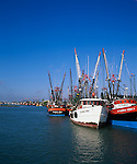 Port Isabel, TX<br /> Shrimp boats rafted on the Port Isabel Channel off the Texas Gulf Coast