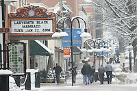 Winter wonderland in downtown on the mall and other places Charlottesville, Va. Credit Image: © Andrew Shurtleff