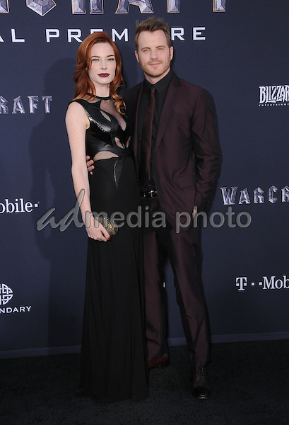 """06 June 2016 - Hollywood, California - Chloe Dykstra, Rob Kazinsky. Arrivals for the Premiere Of Legendary Pictures and Universal Pictures' """"Warcraft"""" held at the TCL Chinese Theater IMAX. Photo Credit: Birdie Thompson/AdMedia"""