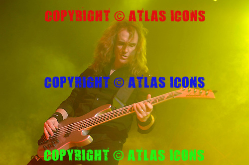 David Ellefson; Megadeth;  Live, In New York City, 2011.Photo Credit: Eddie Malluk/Atlas Icons.com