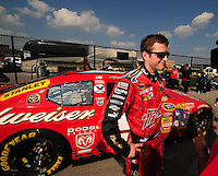 Sept. 26, 2008; Kansas City, KS, USA; Nascar Sprint Cup Series driver Kasey Kahne during qualifying for the Camping World RV 400 at Kansas Speedway. Mandatory Credit: Mark J. Rebilas-