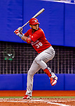 26 March 2018: St. Louis Cardinals first baseman Jose Martinez in action during an exhibition game against the Toronto Blue Jays at Olympic Stadium in Montreal, Quebec, Canada. The Cardinals defeated the Blue Jays 5-3 in the first of two MLB pre-season games in the former home of the Montreal Expos. Mandatory Credit: Ed Wolfstein Photo *** RAW (NEF) Image File Available ***