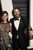 www.acepixs.com<br /> <br /> February 26 2017, LA<br /> <br /> Floriana Lima (l) and Casey Affleck arriving at the Vanity Fair Oscar Party at the Wallis Annenberg Center for the Performing Arts on February 26 2017 in Beverly Hills, Los Angeles<br /> <br /> By Line: Famous/ACE Pictures<br /> <br /> <br /> ACE Pictures Inc<br /> Tel: 6467670430<br /> Email: info@acepixs.com<br /> www.acepixs.com
