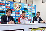 Alvaro Medran during his official presentation at Vallecas Stadium in Madrid, Spain. August 24, 2018. (ALTERPHOTOS/A. Perez Meca)
