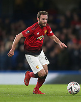 Manchester United's Juan Mata<br /> <br /> Photographer Rob Newell/CameraSport<br /> <br /> Emirates FA Cup Fifth Round - Chelsea v Manchester United - Monday 18th February - Stamford Bridge - London<br />  <br /> World Copyright © 2019 CameraSport. All rights reserved. 43 Linden Ave. Countesthorpe. Leicester. England. LE8 5PG - Tel: +44 (0) 116 277 4147 - admin@camerasport.com - www.camerasport.com