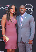 LOS ANGELES, CA - JULY 12: Laila Ali and Curtis Conway at The 25th ESPYS at the Microsoft Theatre in Los Angeles, California on July 12, 2017. Credit: Faye Sadou/MediaPunch