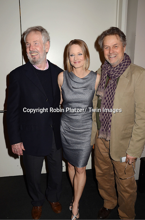 """Robert Benton,Jodie Foster and Jonathan Demme  attending the special screening of """"The Beaver"""" on     May 4, 2011 at The Walter Reade Theatre in New York City. Jodie Foster is the director and the star of the movie."""