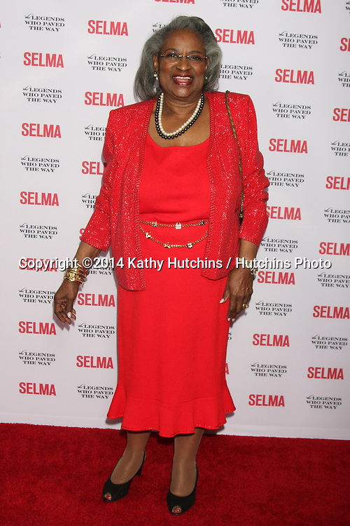 "SANTA BARBARA - DEC 6:  Juanita Abernathy at the ""Selma"" & Legends Who Paved the Way Gala at the Bacara Resort & Spa on December 6, 2014 in Goleta, CA"