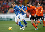 Dundee United v St Johnstone....21.11.15  SPFL,  Tannadice, Dundee<br /> David Wotherspoon gets away from Mark Durnan<br /> Picture by Graeme Hart.<br /> Copyright Perthshire Picture Agency<br /> Tel: 01738 623350  Mobile: 07990 594431