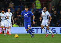 Cardiff City's Marko Grujic under pressure from Bolton Wanderers' Karl Henry<br /> <br /> Photographer Kevin Barnes/CameraSport<br /> <br /> The EFL Sky Bet Championship - Cardiff City v Bolton Wanderers - Tuesday 13th February 2018 - Cardiff City Stadium - Cardiff<br /> <br /> World Copyright &copy; 2018 CameraSport. All rights reserved. 43 Linden Ave. Countesthorpe. Leicester. England. LE8 5PG - Tel: +44 (0) 116 277 4147 - admin@camerasport.com - www.camerasport.com
