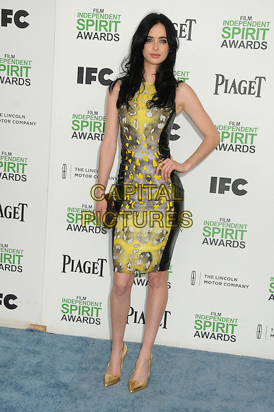 1 March 2014 - Santa Monica, California - Krysten Ritter. 2014 Film Independent Spirit Awards - Arrivals held at Santa Monica Beach. <br /> CAP/ADM/BP<br /> &copy;Byron Purvis/AdMedia/Capital Pictures