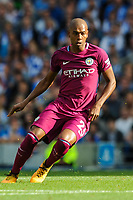 Fernandinho of Manchester City (25)  during the EPL - Premier League match between Brighton and Hove Albion and Manchester City at the American Express Community Stadium, Brighton and Hove, England on 12 August 2017. Photo by Edward Thomas / PRiME Media Images.