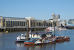 Fuel and lubrication service for boats on the River Thames, Wapping, London