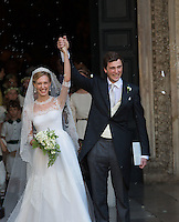 Prince Amedeo of Belgium and Elisabetta Maria Rosboch von Wolkenstein weds in Rome - Italy