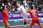 handball wordl cup match between France and Egypt. Valentin Porte . 2015/01/18. Doha. Qatar. Alberto de Isidro. Photocall3000 .