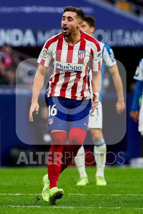 Hector Herrera of Atletico de Madrid during La Liga match between Atletico de Madrid and RCD Espanyol at Wanda Metropolitano Stadium in Madrid, Spain. November 10, 2019. (ALTERPHOTOS/A. Perez Meca)