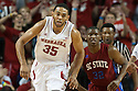 November 17, 2013: Walter Pitchford (35) of the Nebraska Cornhuskers running down court against the South Carolina State Bulldogs at the Pinnacle Bank Areana, Lincoln, NE. Nebraska defeated South Carolina State 83 to 57.