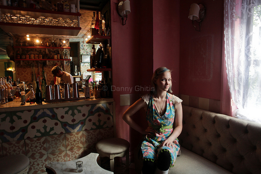 Bartender Jane Danger prepares at Cienfuegos in Manhattan on August 26, 2010.
