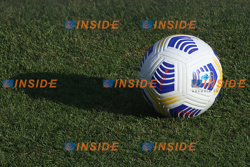 Official ball Serie A 2020/2021 NIKE FLIGHT is seen prior to the friendly football match between SSC Napoli and Castel di Sangro Cep 1953 at stadio Patini in Castel di Sangro, Italy, August 28, 2020. <br /> Photo Cesare Purini / Insidefoto