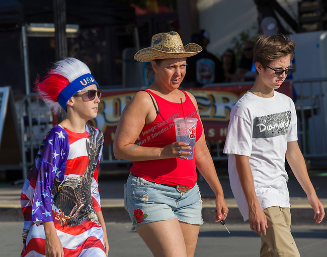 A photograph taken during Star Spangled Sparks on Wednesday July 4, 2018 in downtown Sparks.