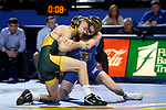 BROOKINGS, SD - FEBRUARY 11: Zach Price from South Dakota State University battles with Cam Sykora from North Dakota State University during their 133 pound match Friday night at Frost Arena in Brookings, SD. (Photo by Dave Eggen/Inertia)