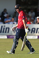 Daniel Lawrence of Essex leaves the field having been dismissed for 15 during Essex Eagles vs Yorkshire Vikings, Royal London One-Day Cup Play-Off Cricket at The Cloudfm County Ground on 14th June 2018
