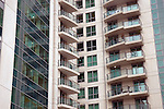 Luxury apartments at the St Georges Wharf development, Vauxhall, London SW8, UK