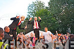 Jedward performing on the Denny Street Stage on Friday.