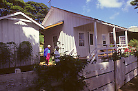 Waipahu cultural garden; recreated plantation village - grand opening. Puerto Rican dwelling. 9-20-92