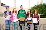 Students at Colaiste na Sceilge happy with their Junior Cert results pictured here l-r; Megan O'Leary, Abby Fayen, Mark Quigley, Jemma Donnelly & Niamh Casey.