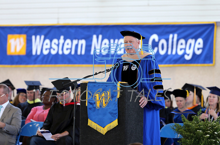President Chet Burton speaks at the Western Nevada College 2017 Commencement in Carson City, Nev. on Monday, May 22, 2017.  <br />Photo by Cathleen Allison/Nevada Photo Source