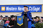 President Chet Burton speaks at the Western Nevada College 2017 Commencement in Carson City, Nev. on Monday, May 22, 2017.  <br />