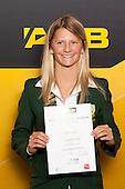 International Award winner Katie Bowen from Lynfield College. ASB College Sport Young Sportsperson of the Year Awards held at Eden Park, Auckland, on November 24th 2011.