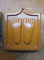 foot print sculpture in Chantraprabhu Jain temple, Fort Jaisalmer, Rajastan, India