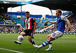 George Baldock of Sheffield Utd and Tom Lees of Sheffield Wednesday during the Championship match at the Hillsborough Stadium, Sheffield. Picture date 24th September 2017. Picture credit should read: Simon Bellis/Sportimage