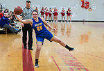 WINSTED,  CT-021119JS22- Housatonic's Madelynn Olownia (25) saves the ball from going out of bounds during their Berkshire League game against Northwestern Monday at Northwestern. <br /> Jim Shannon Republican American